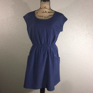 Short dress with pockets.